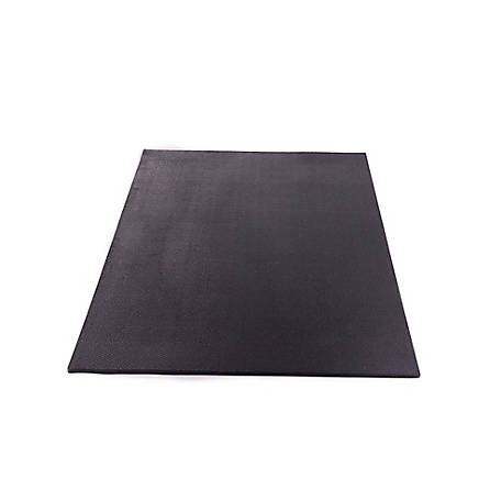 Utility Rubber Mat, Black, 4 ft. x 3 ft x 1/2 in., 124634
