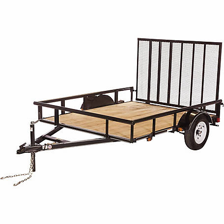 Carry-On Trailer 6 ft. x 8 ft. Open Wood-Floor Utility Trailer, Model #: 6X8GW2KPT