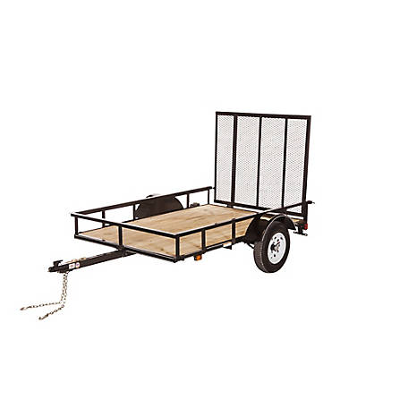 Carry-On Trailer 5 ft. x 8 ft. Open Wood-Floor Utility Trailer, Model #: 5X8SPW