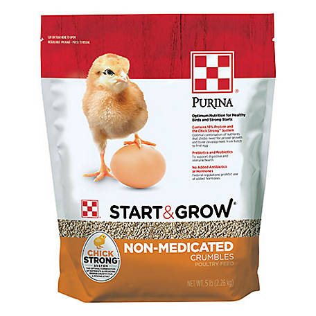 Purina Start & Grow Starter/Grower Non-Medicated Feed Crumbles, 5 lb., 3003983-346