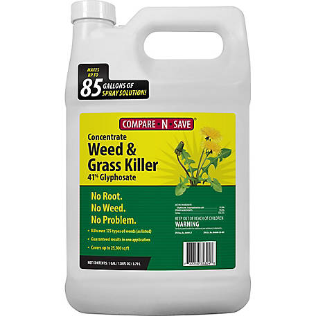 Compare-N-Save Grass & Weed Killer Concentrate, 41% Glyphosate, 1 gal., 75324