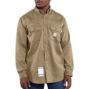Carhartt Mens Flame Resistant Tradesman Twill Shirt