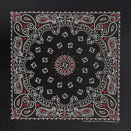 "22/""x22/"" Red//Black//White Plaid Checkered 100/% Cotton Bandana"