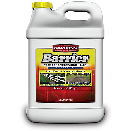 Gordon's Barrier Year-Long Vegetation Killer Concentrate, 2.5 gal., 8131122