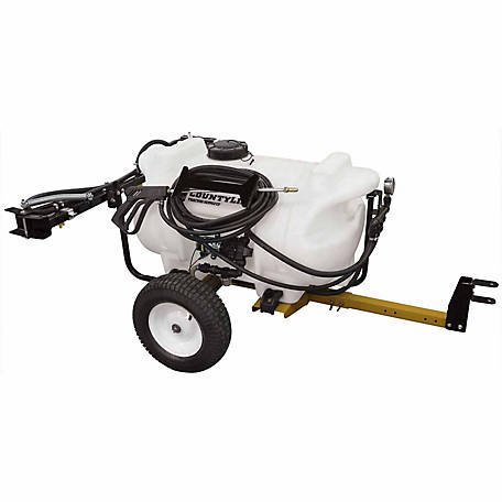 CountyLine 40-Gallon 12-Volt 2.1 GPM Pump Trailer Sprayer with 5-Nozzle Boom