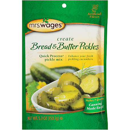 Mrs. Wages Bread & Butter Pickles Quick Process Pickle Mix, W620-J7425