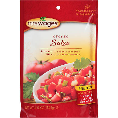 Mrs. Wages Salsa Tomato Mix, Medium, W536-J7425