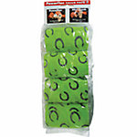 PowerFlex 4 in. Bandage, 15 ft., Black Horseshoes on Lime Green, Pack of 4