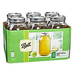 Ball Wide Mouth Half-Gallon Jar, Pack of 6