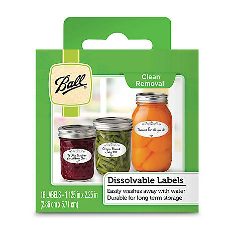 Ball Dissolvable Labels
