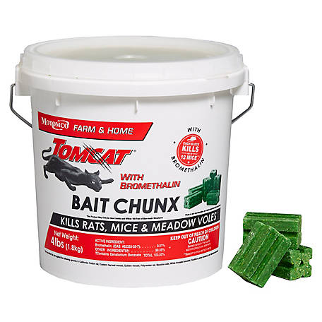 Tomcat with Bromethalin Bait Chunx, 4 lb. Pail, 22244
