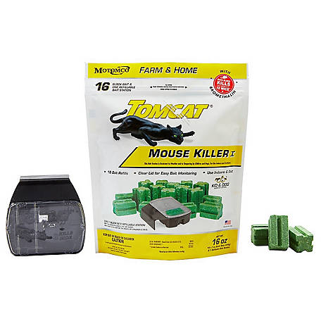 Tomcat Mouse Killer Refillable Station, 16 x 1 oz. Blocks, 22786