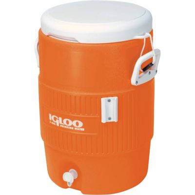 Buy Igloo 5-Gallon Seat Top Cooler; Orange Online