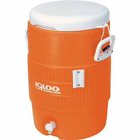 Igloo 5-Gallon Seat Top Cooler, Orange