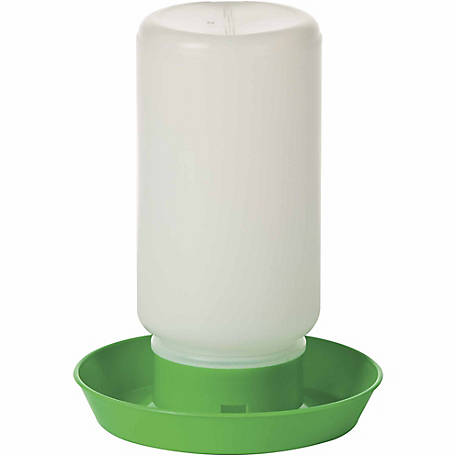 Little Giant 1-Quart Screw-On Poultry Waterer Base, Green