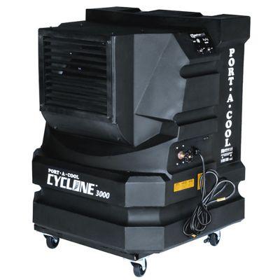 Portacool Cyclone 3000 Portable Evaporative Cooler; 3;000 CFM; Black