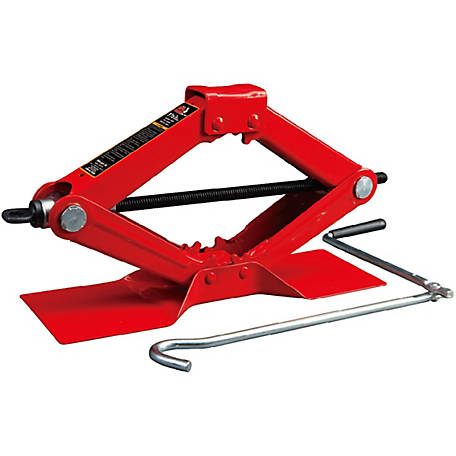 Torin Big Red 1-1/2 Ton Scissor Jack, Red, T10152