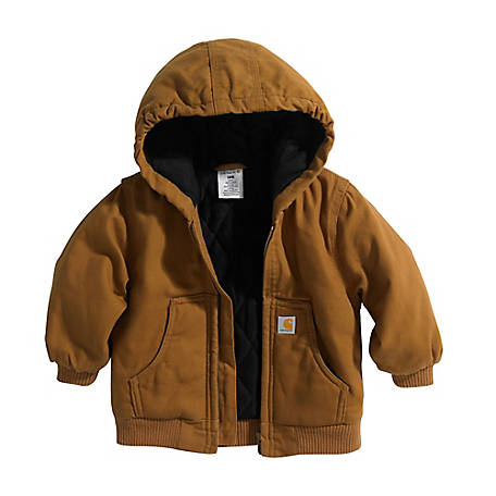 c87e7a71bcb Carhartt Boys' Infant Active Jac Quilted Flannel Lined Jacket