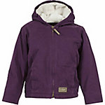 C.E. Schmidt Girl's Sanded/Washed Dark Lilac Duck Sherpa-Lined Hooded Coat