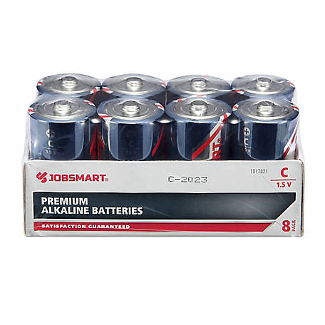 JobSmart C Alkaline Battery, Pack of 8