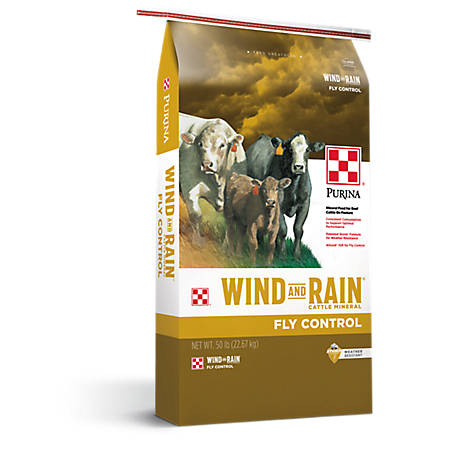 Purina Wind and Rain Fly Control Cattle Mineral, 50 lb.