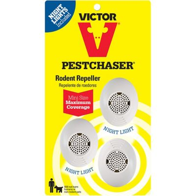 Buy Victor Mini PestChaser Rodent Repeller with Nightlight; Pack of 3 Online