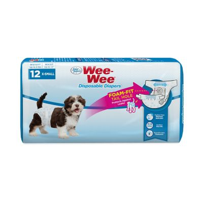 Four Paws Wee-Wee Dog Extra Small Disposable Diapers; Pack of 12