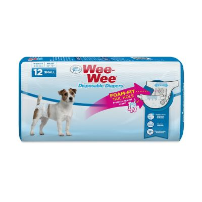 Four Paws Wee-Wee Dog Small Disposable Diapers Small; Pack of 12