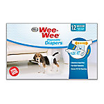 Four Paws Wee-Wee Dog Medium Disposable Diapers Medium, Pack of 12