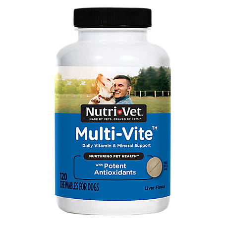 Nutri-Vet Multi-Vite Chewables for Dogs, 120 Count