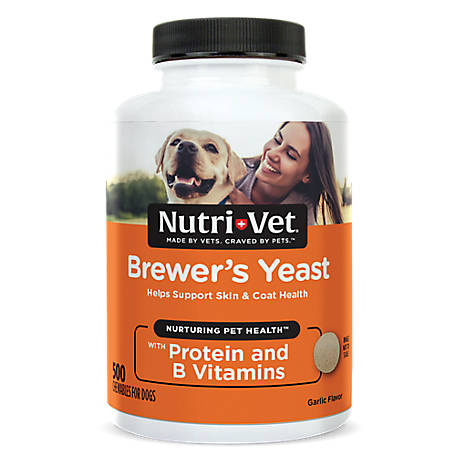 Nutri-Vet Brewers Yeast Chewables for Dogs, 500 Count, 1001040