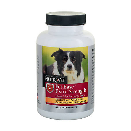 Nutri-Vet Pet-Ease Chewables for Dogs, Pack of 60