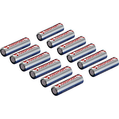 JobSmart AA Alkaline Battery, Pack of 12