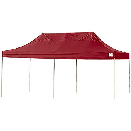 Shelterlogic Triple Truss Top Pop Up Canopy Red 10 Ft W