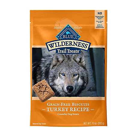 Blue Buffalo Wilderness Trail Treats Turkey Biscuits Natural Crunchy Dog Biscuits, 10 oz.