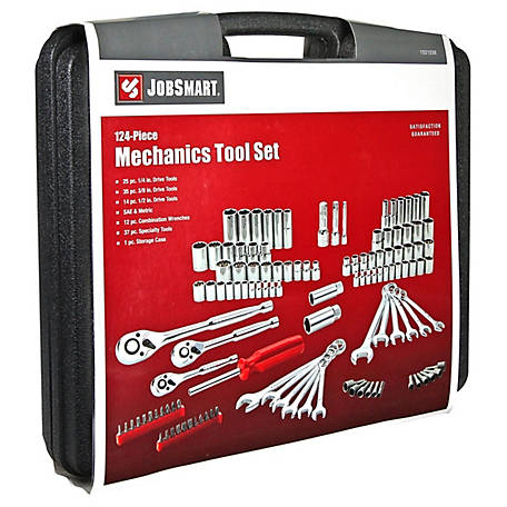 JobSmart 124 pc. Mechanics Tool Set