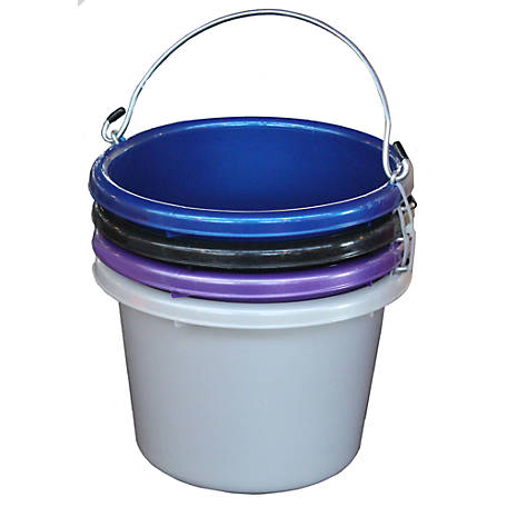 Fortiflex Shades of Blue Multipurpose Bucket, 2 gal. Capacity, Pack of 4