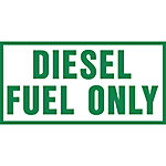 Hazmat Diesel Fuel Only Sticker Decal