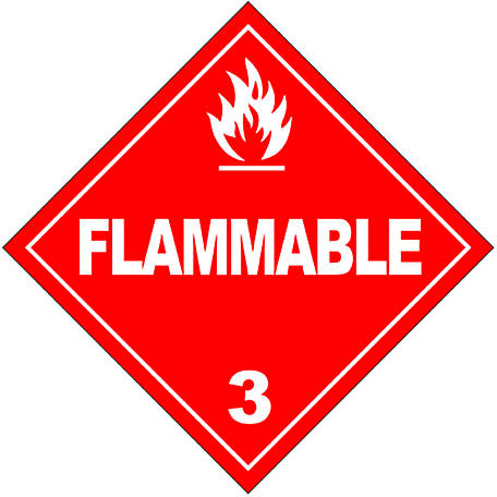 Hazmat Flammable Sticker Decal