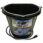 Farm Innovators 18 qt. Heated Flat-Back Rubber Bucket, FB-15R