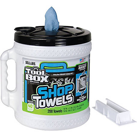 TOOLBOX Blue Shop Towels Big Grip Dispenser, 10 in. x 12 in., 102279099
