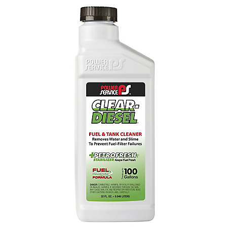Power Service Clear Diesel Fuel and Tank Cleaner, 32 oz., 9225