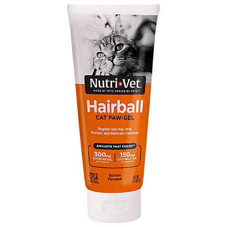 Nutri-Vet Hairball Paw-Gel for Cats, Salmon Flavor, 1001017