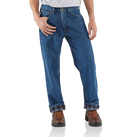Carhartt Men's Relaxed Fit Flannel Lined Jean