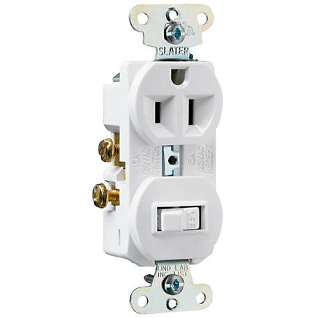 Pass & Seymour 1-Pole Toggle Switch/Outlet, White