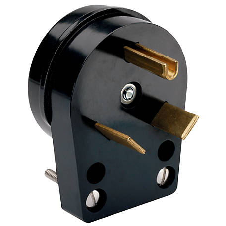 Pass & Seymour Black 30A 125V Travel Trailer Angle Plug