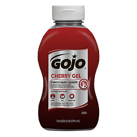GOJO Cherry Gel Pumice Hand Cleaner, 10 oz.