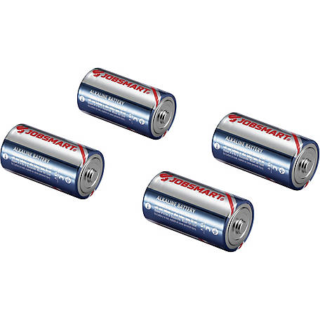 JobSmart C Alkaline Battery, Pack of 4