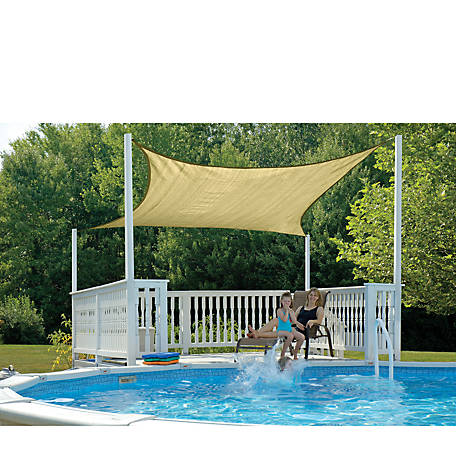 ShelterLogic ShadeLogic Sun Shade Sail, Heavy Weight, Square