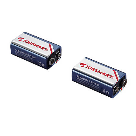 JobSmart 9V Alkaline Battery, Pack of 2